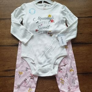 NWT Floral Carters Set
